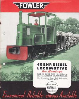 40 B.H.P. Diesel Locomotive for Haulage